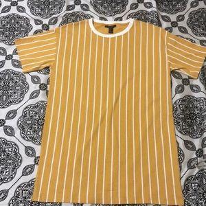 Forever 21 mustard T-shirt dress